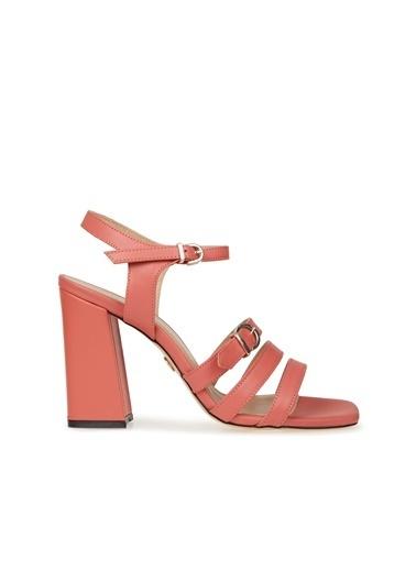 Divarese Divarese 5025211 Bantlı Topuklu Deri Kadın Sandalet Oranj